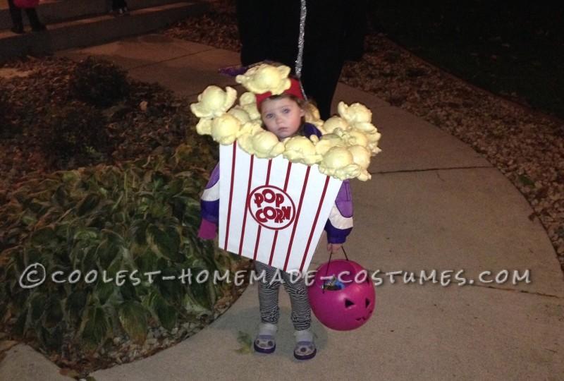 Cutest Little Popcorn Girl Costume for Halloween - 2