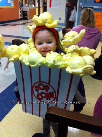 Cutest Little Popcorn Girl Costume for Halloween