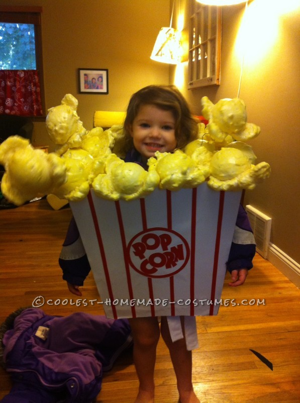 Cutest Little Popcorn Girl Costume for Halloween