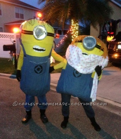 Dancing Minions Homemade Couple Halloween Costumes