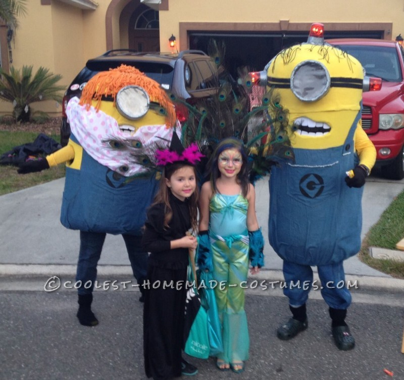 Dancing Minions Homemade Couple Halloween Costumes - 1