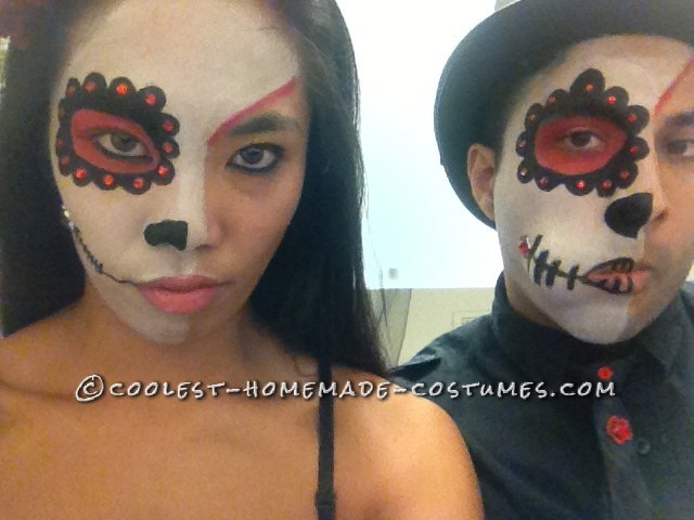 Day of the Dead Bride and Groom Couple Costume - 2