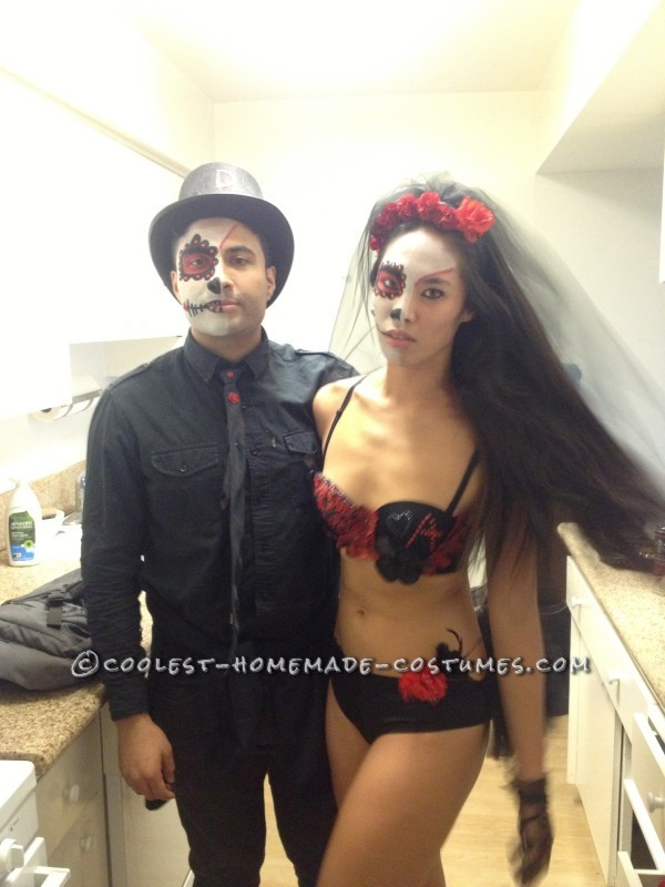Day of the Dead Bride and Groom Couple Costume