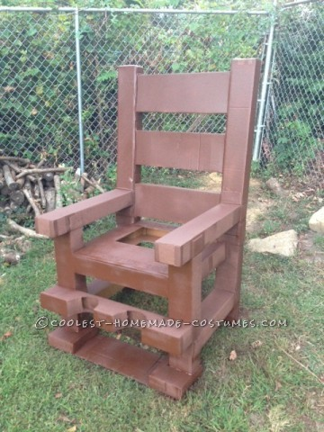 Optical Illusion Electric Chair Death Sentence Costume