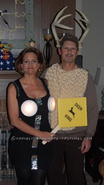 Deer Caught In Headlights Couple Costume