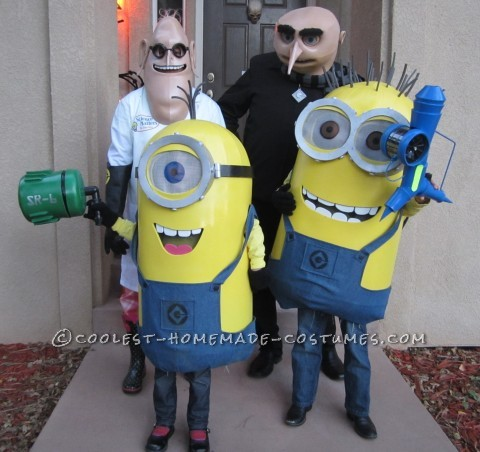 Over-the-Top Despicable Me Family Costumes - Entirely Homemade!