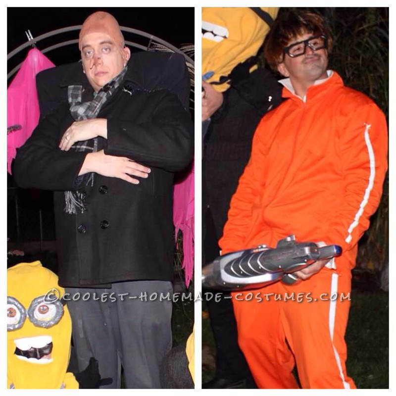 Cool Despicable Me Group Costume: Gru, Vector, Dr. Nefario and Minions