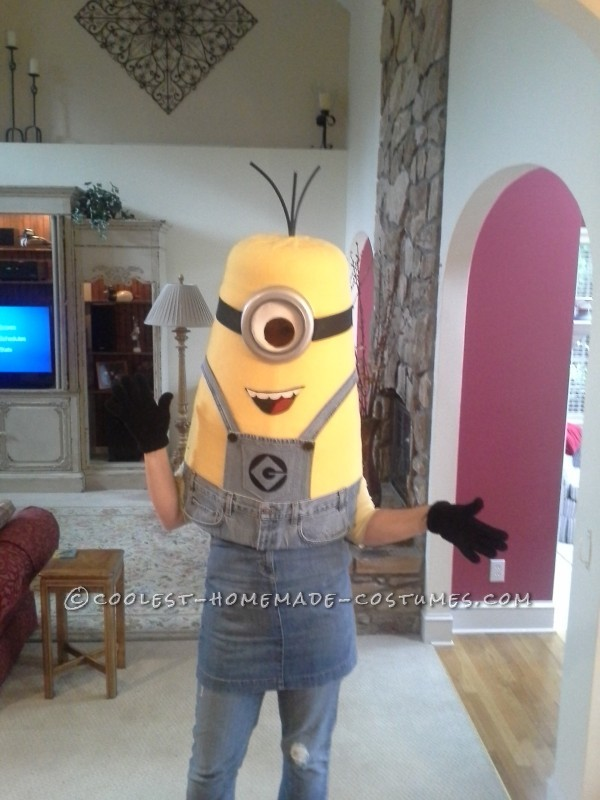 Cool Homemade Despicable Me Minion Costume Made with TLC