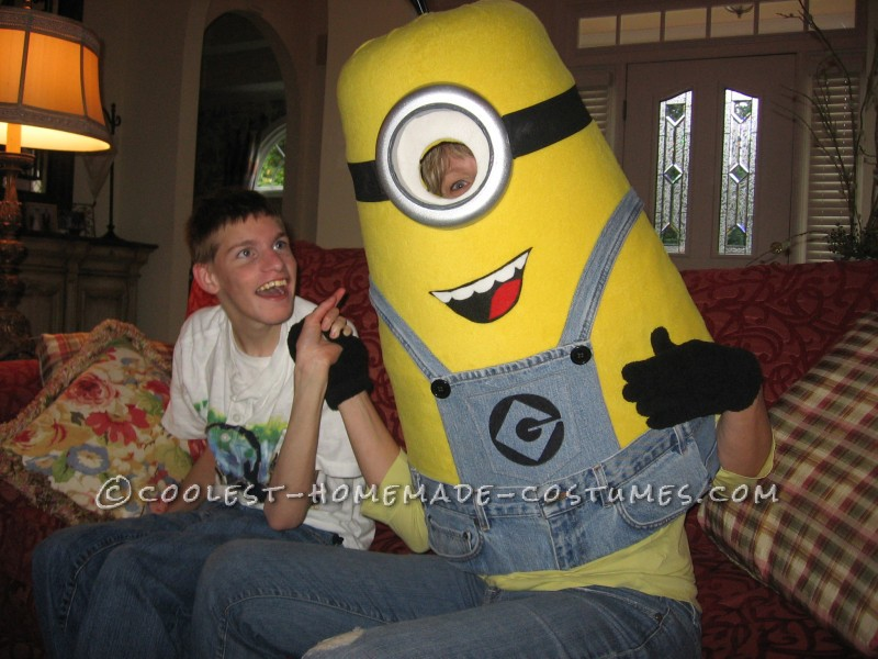 Cool Homemade Despicable Me Minion Costume Made with TLC - 1