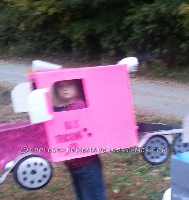 Pink Rig Truck Halloween Costume - 1