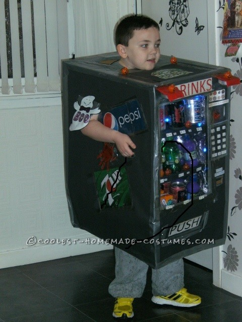 Cool Homemade Cardboard Box Vending Machine Costume