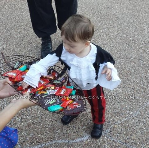 Easy $5 Toddler Pirate Costume Using Clothes from a Thrift Store