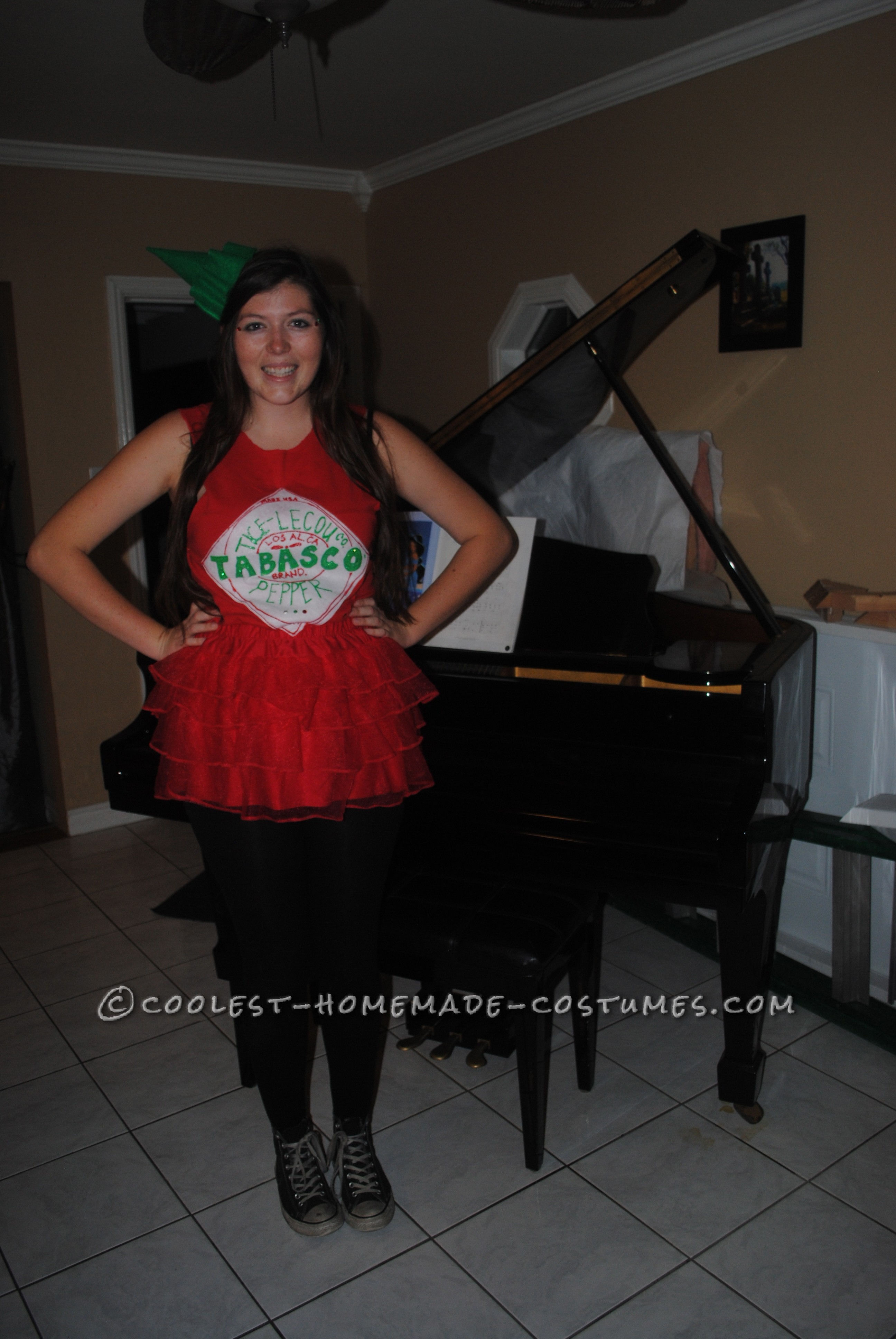 Easy Girly Tabasco Costume - Keeping it Hot!