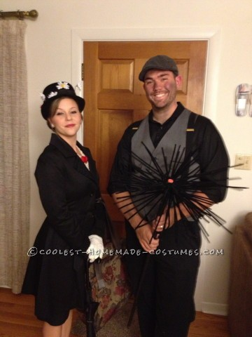 Easy Nostalgic Mary Poppins and Bert Couples Costume