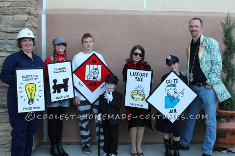 Easy, Unique, Inexpensive, Contest-Winning MONOPOLY Group/Family Costumes
