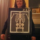 Easy Glowing X-Ray Costume made from Scratch