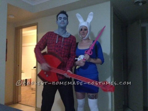 Fionna and Marshall Lee Couple Costume on a VERY Tight Budget!