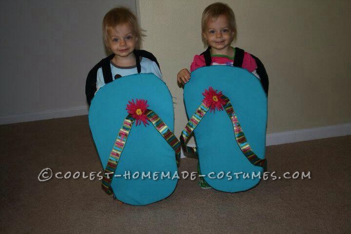 1abfd5c65b82 Cute Twin Toddler Halloween Costumes - Flip Flops