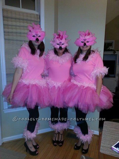 Flock of Flamingos Girl Group Costume