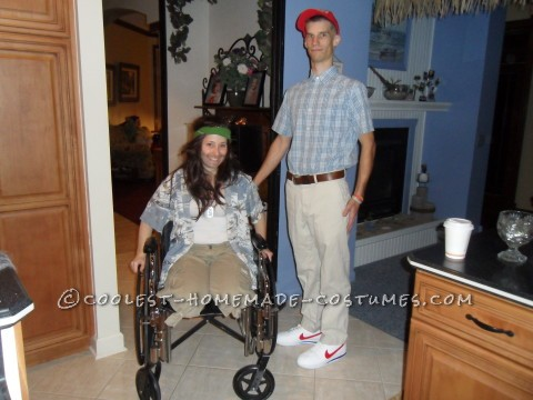 Lt. Dan and Forrest Gump Couple Halloween Costumes