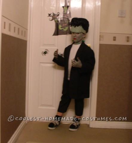Last Minute Frankenstein's Monster Halloween Costume for a Boy