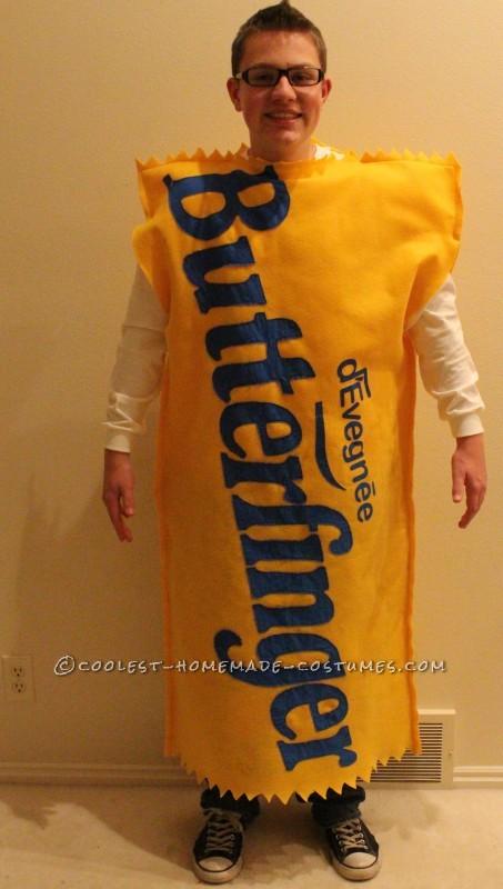 Homemade Butterfinger costume