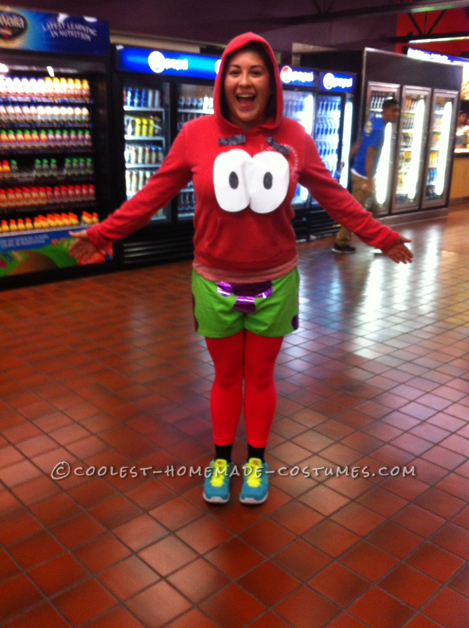 Funny and Inexpensive DIY Patrick Costume from SpongeBob