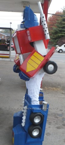 Awesome G1 Optimus Prime Costume from Recycled Materials