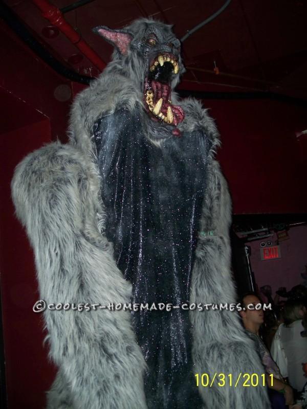 Giant Homemade Werewolf Costume on Stilts - 3