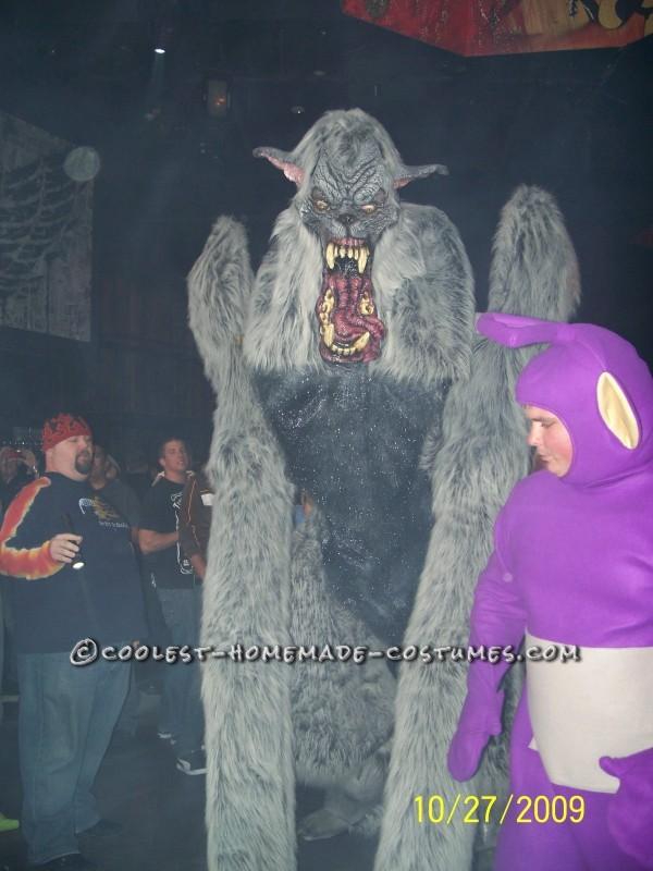 Giant Homemade Werewolf Costume on Stilts
