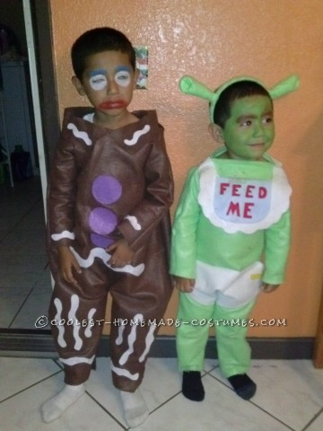Gingy Cookie and Shrek Costumes
