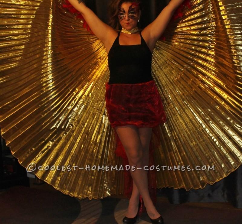 Glamorous Homemade Phoenix Costume