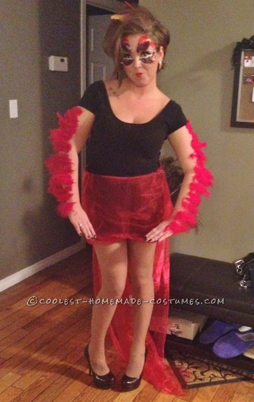 Glamorous Homemade Phoenix Costume: My name is Lucy, I had no clue on what I was going to be for Halloween, until I stumbled upon a model who was dressed as a phoenix (she had barely any