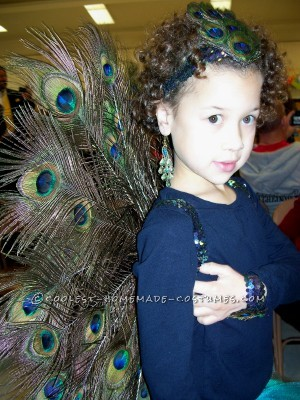 Gorgeous Girl's Peacock Costume - 1
