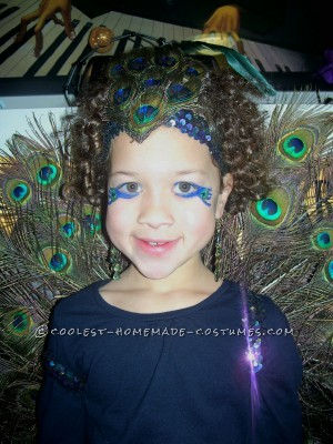 Gorgeous Girl's Peacock Costume - 2