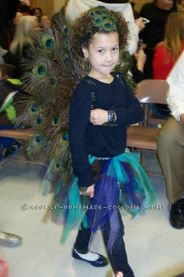Gorgeous Girl's Peacock Costume