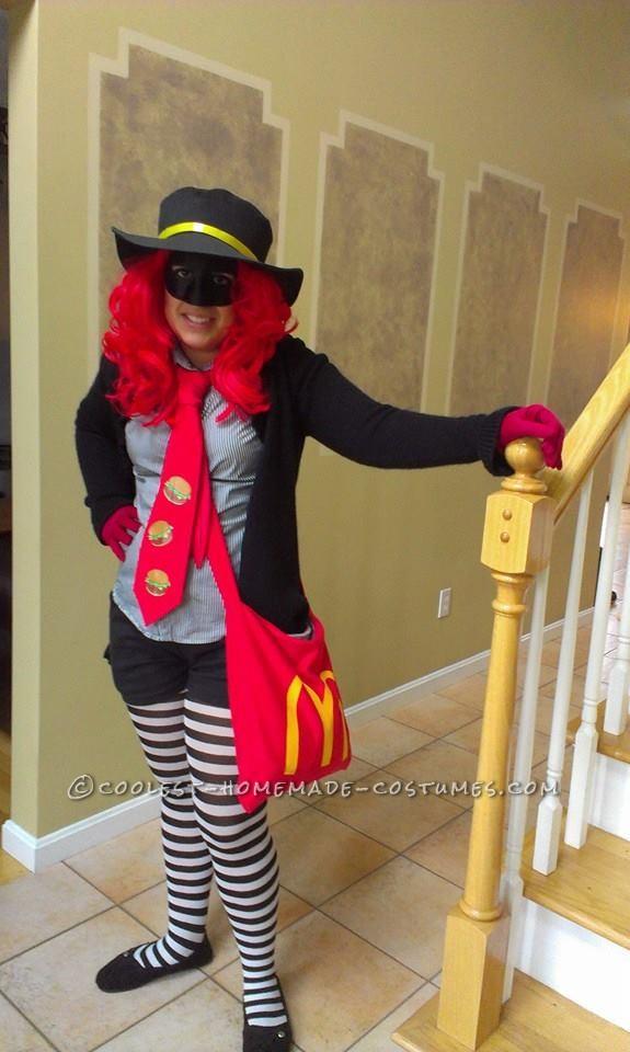 Best DIY McDonald's Hamburglar Costume for a Woman