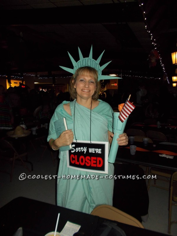 Government Shutdown: Statue of Liberty Costume (Closed for Business)