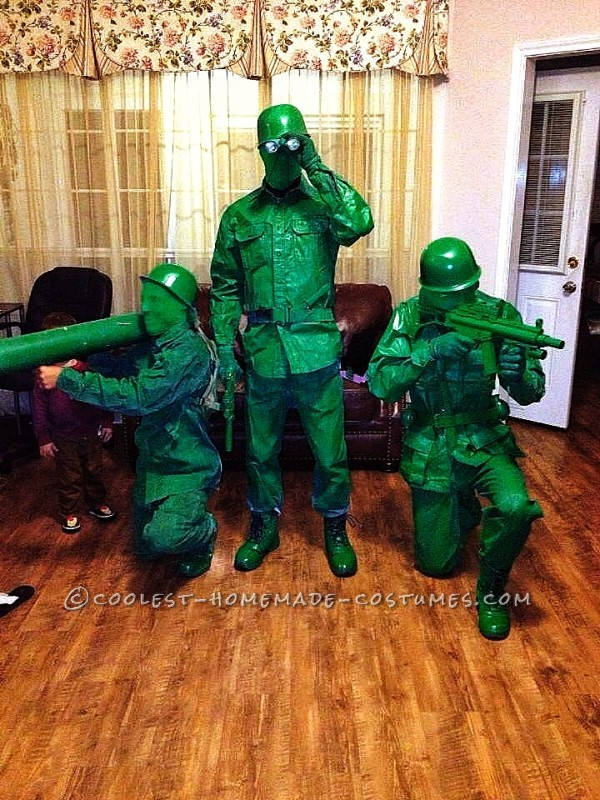 Homemade Green Plastic Army Toy Soldier