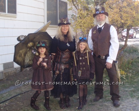 Halloween Steampunk Style Family Costume