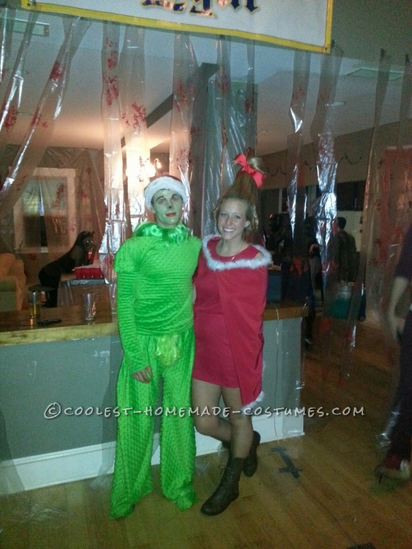 Handmade Grinch and Cindy Lou Who Couples Costume