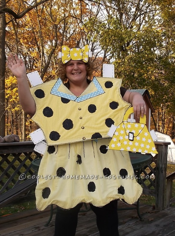 Head-Turning Paper Doll Halloween Costume - 2