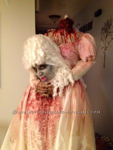 Prize-Winning Headless Marie Antoinette Halloween Costume