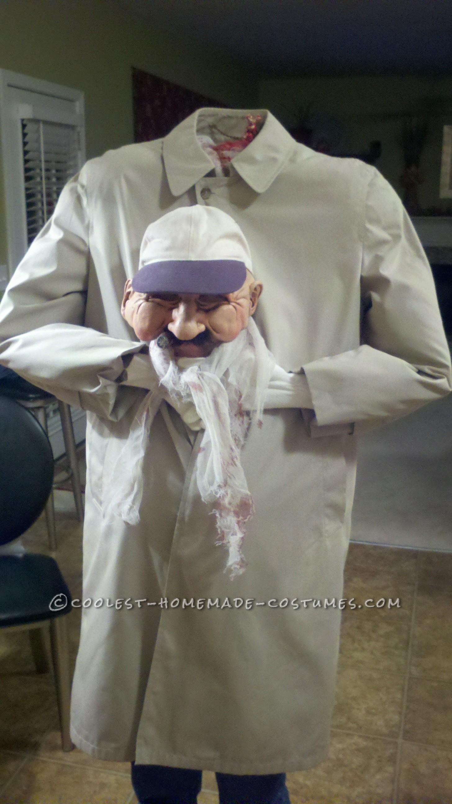 Headless Old Man Illusion Costume