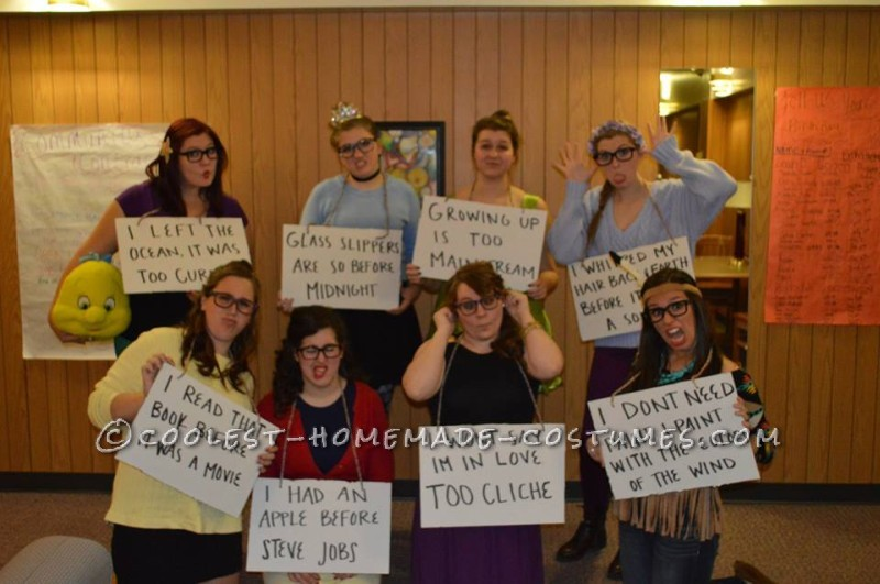 Thrift-Store Girl Group Costumes: Hipster Disney Princesses and Friends