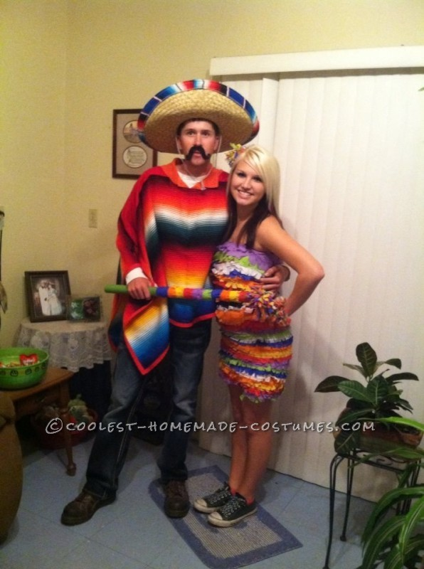 Cool Hombre and Pinata Couple Halloween Costume