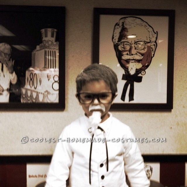Homemade Colonel Sanders Costume for a Toddler