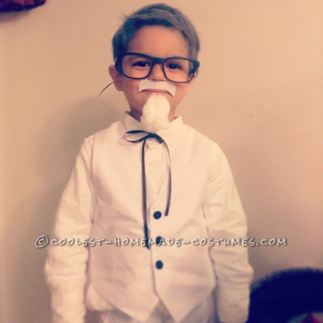 Homemade Colonel Sanders Costume for a Toddler - 1