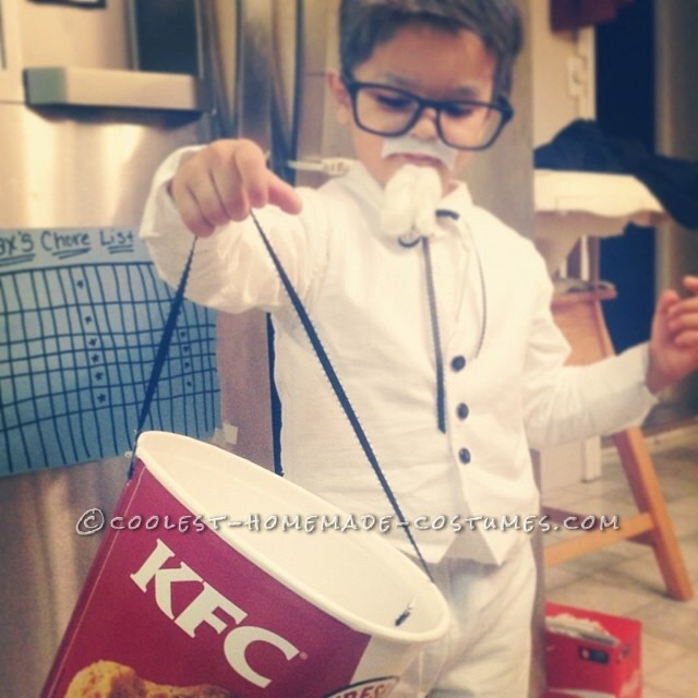 Homemade Colonel Sanders Costume for a Toddler - 2