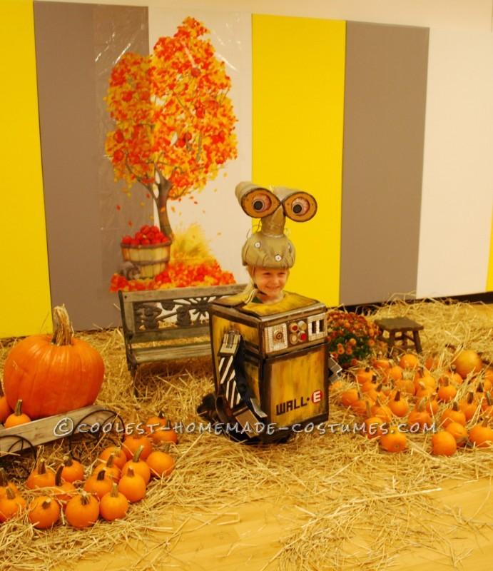 Homemade Cardboard Box Halloween Wall-E Costume